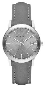 Burberry BU9036 the City Grey Leather Check Dial Watch