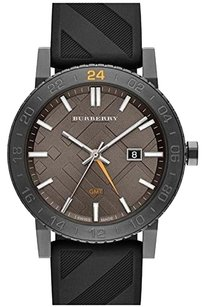Burberry BU9341 the New City Black Silicone Black Dial GMT Watch