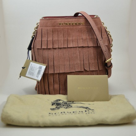Burberry Suede Cross Body Bag