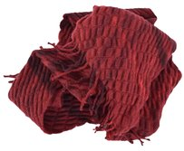 Burberry Burberry Children's $175 Wool Burgundy Quilted Nova Check Scarf