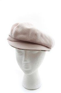 Burberry Burberry Cream Beige Pink Wool Cashmere Newsboy Cabbie Nova Plaid Cap Hat