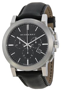 Burberry BU9356 The City Black Leather Chronograph Mens Watch