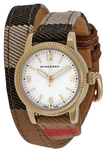 Burberry BU7851 Burberry the Utilitarian Check Leather Wrap Womens Watch