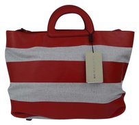 Burberry Canvas Crossbody Canbera Tote in Beige/Red