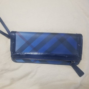 Burberry Blue Clutch