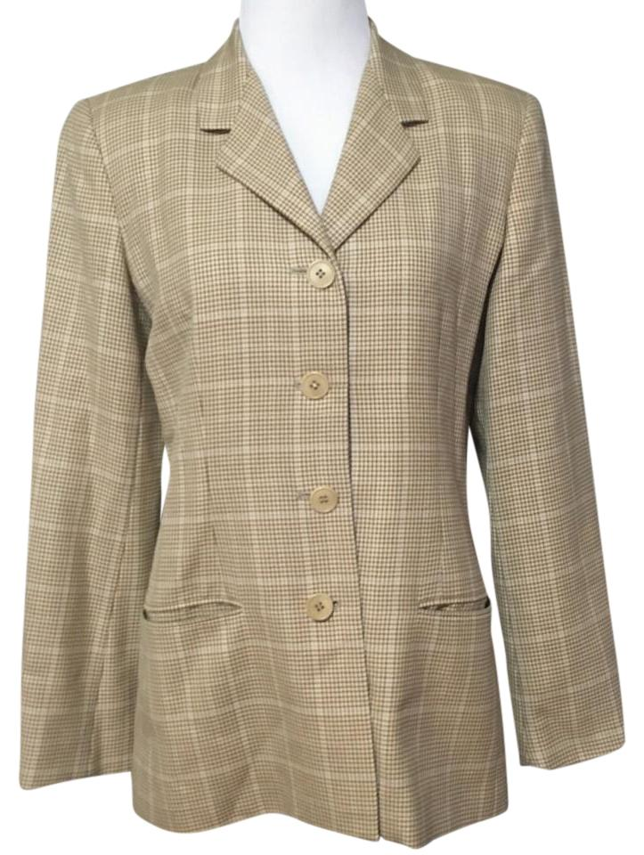 Burberry Houndstooth Plaid Blazer ...