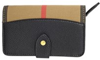 Burberry House Check Leather Wallet - Black 4018881