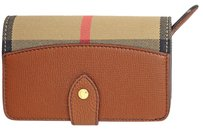 Burberry House Check Leather Wallet - Tan 4018883