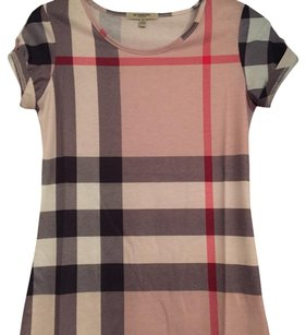 Burberry London T Shirt Khaki/Multi