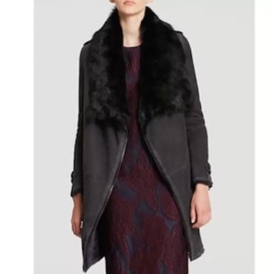 Burberry London Lambskin Fur Chic Fur Coat