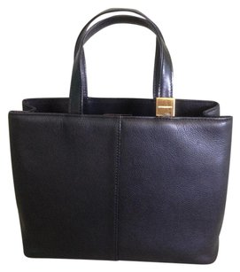 Burberry London Medium Leather Tote in Black