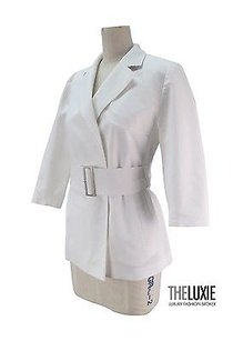 Burberry London 68 Sleek Short Trench Love White Jacket