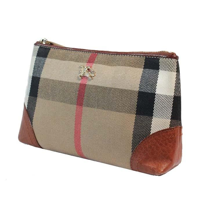 Burberry make up excellent brown red plaid canvas leather clutch jpg  960x960 Burberry plaid red and b8ec923e7f459