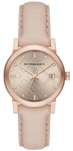 Burberry NWOT BURBERRY Rose Dial Rose Gold Ion-plated Ladies Watch BU9131