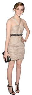 Burberry Prorsum Silk Pleat/rushed Runyway Emma Watson Dress