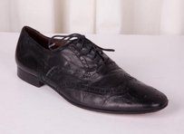 Burberry Prorsum Mens Black Leather Lace-up Wing-tip Oxford Brogue 4511.5