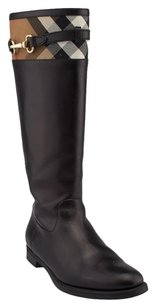 Burberry Riding Leather Boots