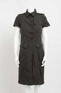 Burberry Dark Button Up Dress