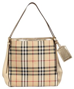 Burberry Tote in Check & Metallic Leather