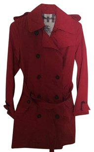 Burberry Trench Pink Red Fuschia Trench Coat