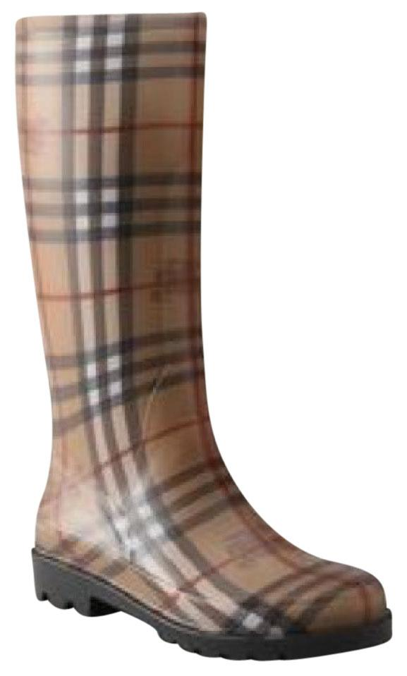 Burberry Tuan Haymarket Check Plaid Boots/Booties Size US 7