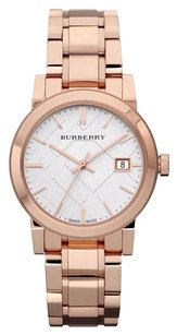 Burberry Women's 'The City' Rose tone Stainless steel Watch