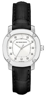Burberry Womenthe Britain 34mm Ladies Diamond Indexes Black Bby1806