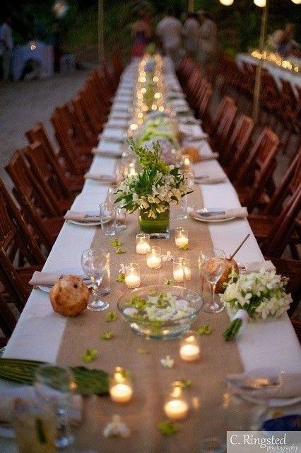 Burlap 10 Extra Wide Table Runners 18 ...