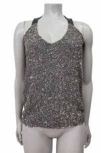 Burning Torch Sequin Top Gray