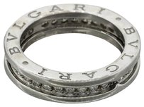 BVLGARI Bulgari Bvlgari 18k White Gold B Zero 1 .50ct G SI1 Diamond Pave Wedding Band Ring