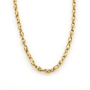 BVLGARI Bulgari Bvlgari 18k Yellow Gold 4mm Wide Fancy Chain Link Necklace
