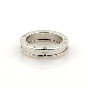 BVLGARI Bulgari Bvlgari B.zero 1 18k White Gold 5mm Band Ring Eu 49 -