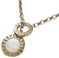 BVLGARI BULGARI Gold & Mother of Pearl Disc Necklace