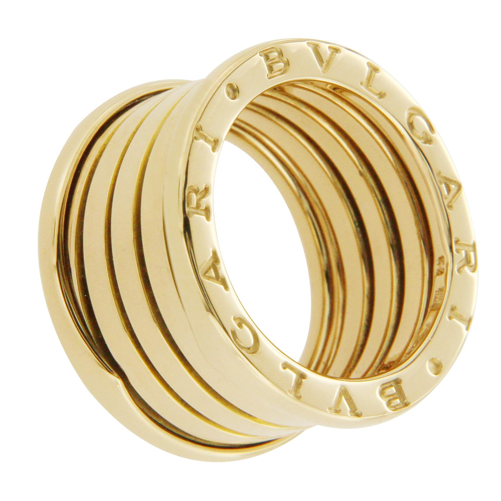 bvlgari bvlgari bulgari 18k yellow gold b zero1 4 bands ring size us 7 eur