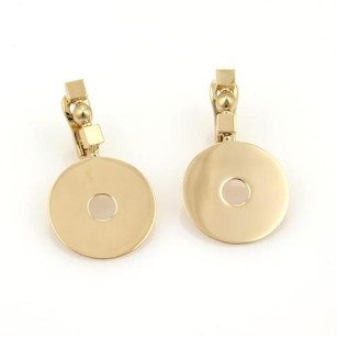 BVLGARI Bvlgari Bulgari 18k Yellow Gold Open Circle Disc Drop Dangle Earrings