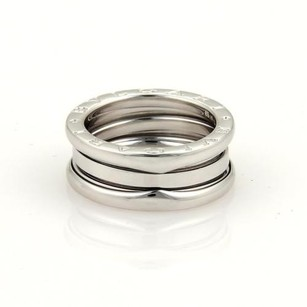 BVLGARI Bvlgari Bulgari B-zero 1 18k White Gold 8mm Band Ring 51-