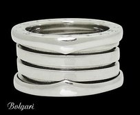 BVLGARI Bvlgari Bulgari B. Zero1 18k White Gold Band Ring R717