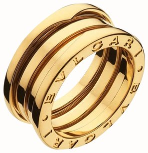 BVLGARI Bvlgari B.Zero1 18K Yellow Gold 3 Band Ring AN191023 US 6.5
