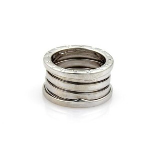 BVLGARI Bulgari Bvlgari B Zero-1 18k White Gold 11mm Band Ring Eu 50-us