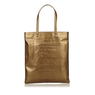BVLGARI Gold Leather Others Tote