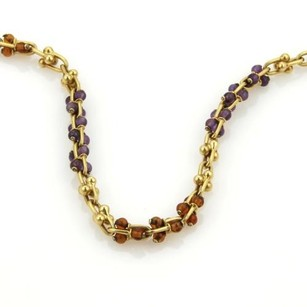 BVLGARI Viintage Bulgari Bvlgari Citrine Amethyst 18k Yellow Gold Long Necklace 35
