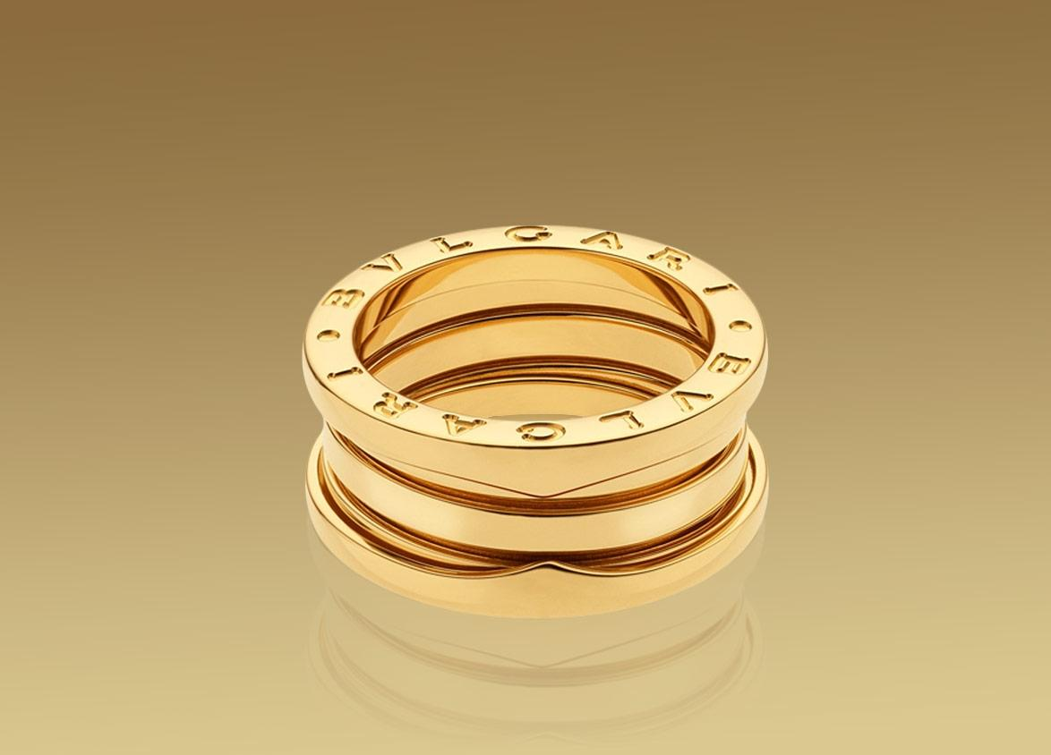 BVLGARI Yellow Gold B zero1 18k 3 Band An Us 6 Ring Tradesy