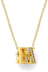 C. Wonder C. Wonder Gold Pave Cube Initial Necklace J
