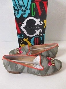 C. Wonder Butterfly Smoking khaki orange Flats