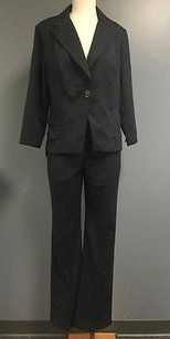 CAbi Cabi Dark Gray Collared Pleated Blazer And Bootcut Pant Suit Sma4349
