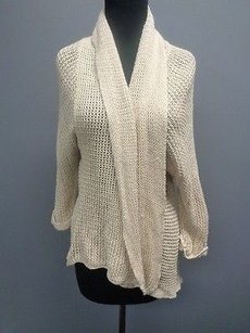 CAbi Cotton Blend Knit Casual Open Front Cardigan Sma5172 Sweater