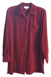 Cache Button Down Shirt Holiday Red