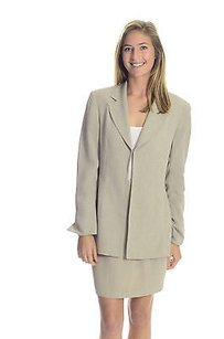 Cachet 610 Cache Light Taupe High Waisted Skirt Matching Blazerjacket Suit Set
