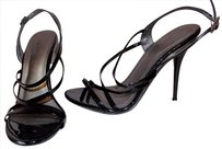 Call It Spring Faux Leather Faux Patent Classic Strappy Party Black Sandals