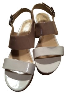 Calvin Klein 8 Leather Tan Beige Brown Platforms